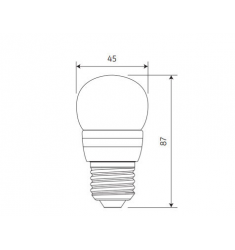 Bec LED General Electric Energy Smart™ sferic, 6W, E27, 470 lm, 20.000 ore, lumina calda, dimabil