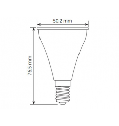 Bec LED General Electric Energy Smart™ reflector R50, 3,5W, E14, 25.000 ore, lumina calda, dimabil