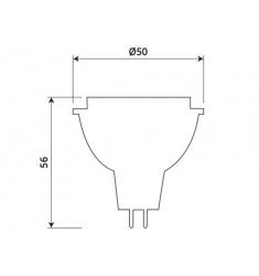 Bec LED General Electric Energy Smart™ spot MR16, 7W, 12V, GU5.3, 25.000 ore, lumina rece, dimabil