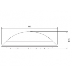 Corp de iluminat interior GE aplica/plafoniera LED, 17W, 50.000 ore, lumina calda, dimabil