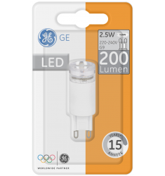 Bec LED General Electric capsulă 12V, 2.5W, G9, 200 lm, 15.000 ore, lumină caldă