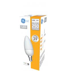 Bec LED General Electric lumânare, 3.5W, E14, 250 lm, 15.000 ore, lumină caldă