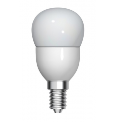 Bec LED General Electric sferic, 3.5W, E14, 250 lm, 15.000 ore, lumină caldă