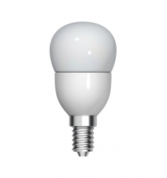 Bec LED General Electric sferic, 4.5W, E14, 350 lm, 15.000 ore, lumină caldă