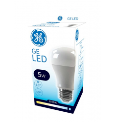 Bec LED General Electric clasic ECO, 5W, E27, 400 lm, 10.000 ore, lumină rece