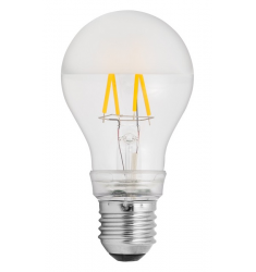 Bec LED General Electric clasic filament, 6.5W, E27, 760 lm, 10.000 ore, lumină caldă, perlat