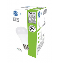 Bec LED General Electric clasic, 7W, E27, 470 lm, 25.000 ore, lumină caldă
