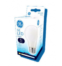 Bec LED General Electric clasic sticlă, 8W, E27, 810 lm, 8.000 ore, lumină caldă, mat
